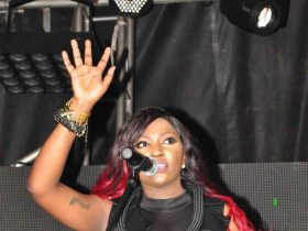 Irene Ntale on stage
