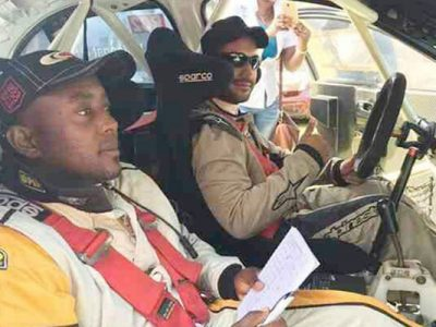 Mangat and his co-driver