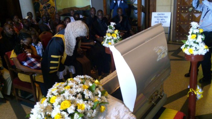 The Late Jack Maumbe Mukhwana's body