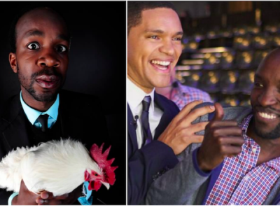 David Kibuuka, Trevor Noah and Joseph Opio