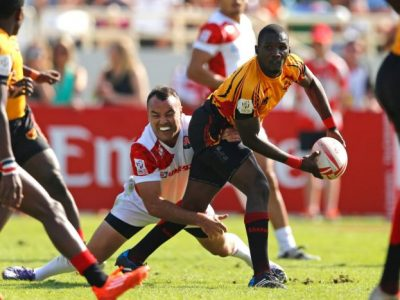 Uganda Team in action against Japan